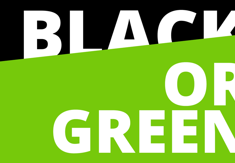 Green is the new black ?